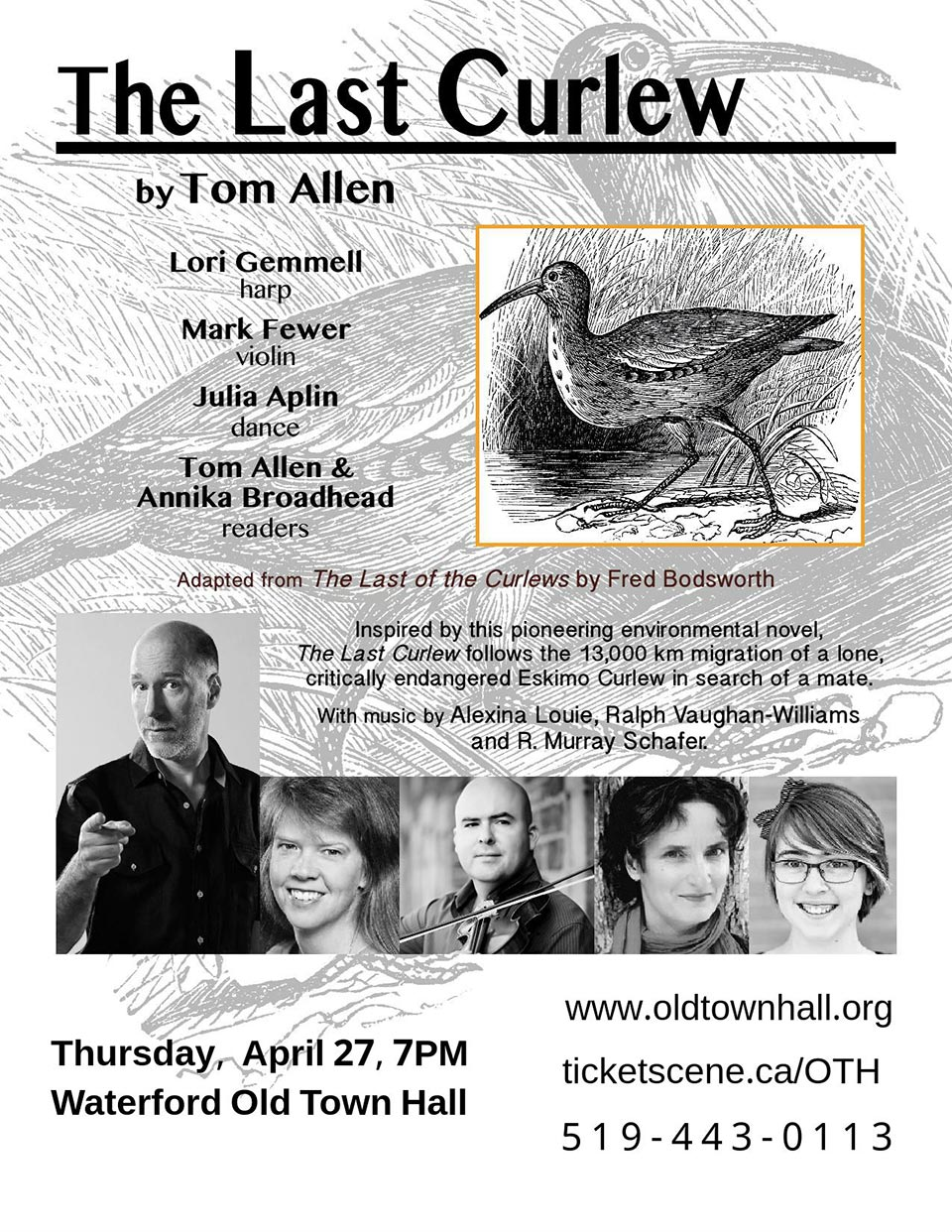 Tom Allen's The Last Curlew at Waterford Old Town Hall AP 27, 2017